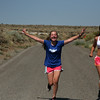 Our trip began with a quick run near the park at Mono Lake. Chloe and Bri show their enthusiasm for running in the 90+ degree heat.